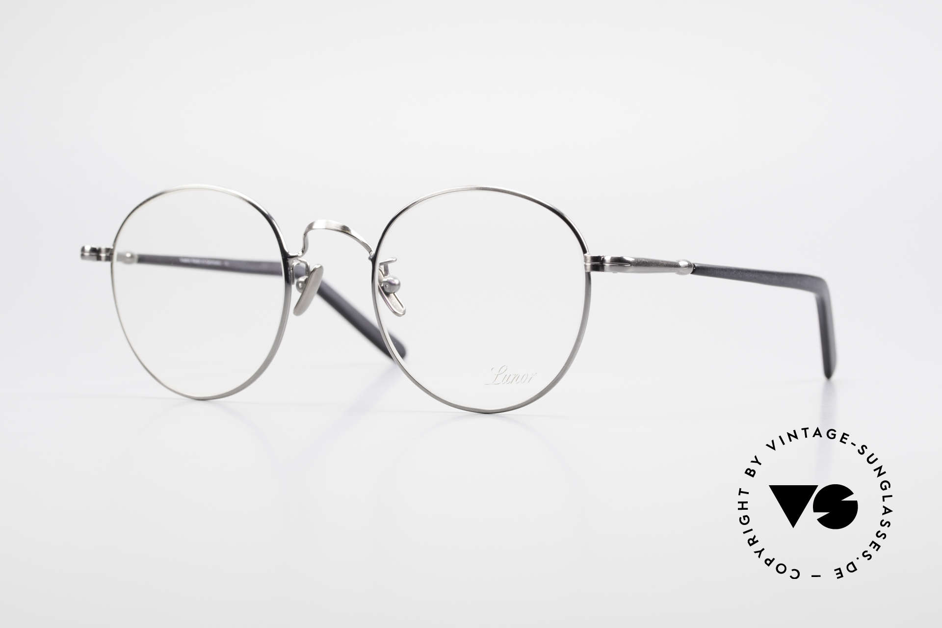 Lunor VA 111 Classy Panto Eyeglasses 2015, LUNOR: honest craftsmanship with attention to details, Made for Men