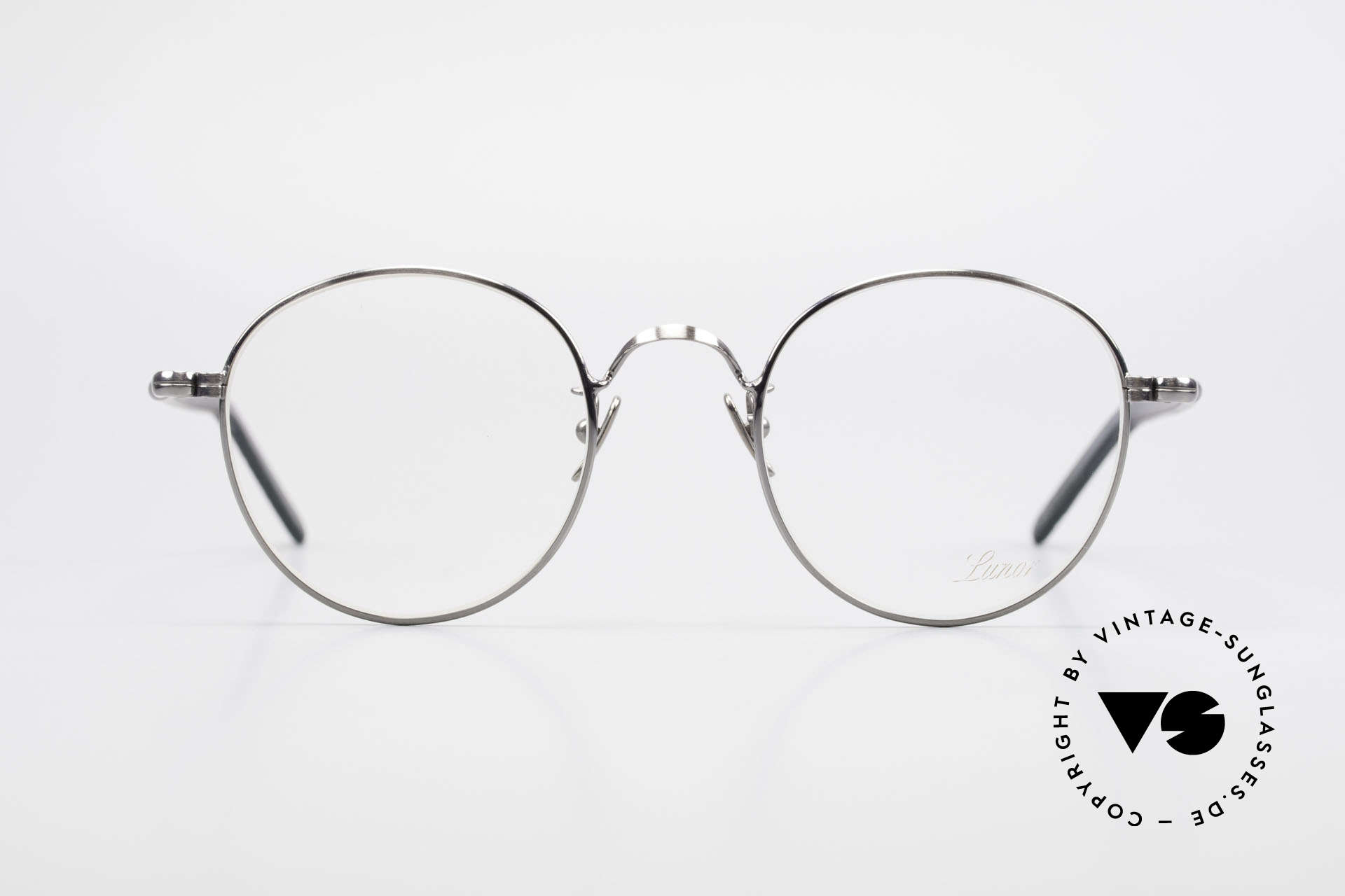 Lunor VA 111 Classy Panto Eyeglasses 2015, without ostentatious logos (but in a timeless elegance), Made for Men
