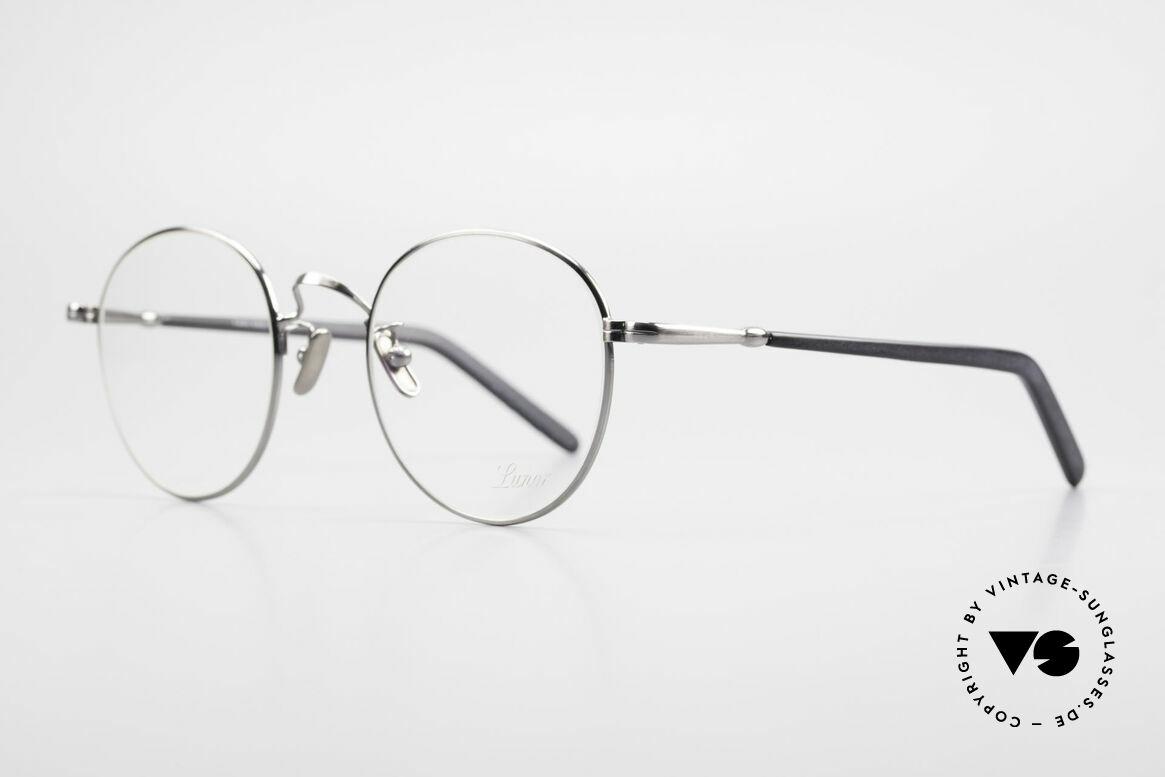 Lunor VA 111 Classy Panto Eyeglasses 2015, model VA 111: very elegant Panto glasses for gentlemen, Made for Men