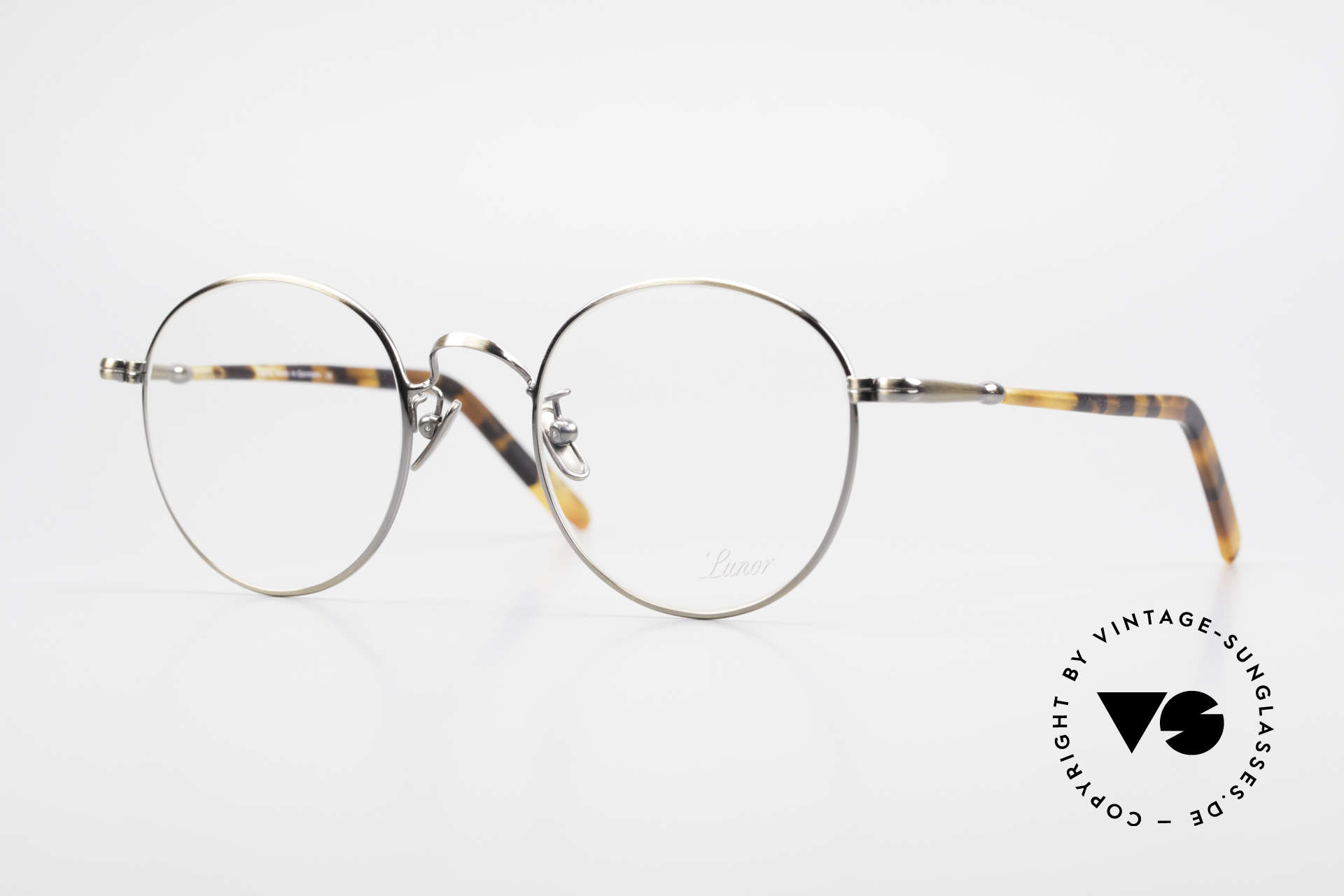 Lunor VA 111 Classy Men's Panto Eyeglasses, LUNOR: honest craftsmanship with attention to details, Made for Men