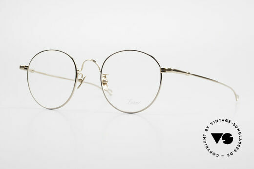 Lunor V 111 Men's Panto Frame Gold Plated Details