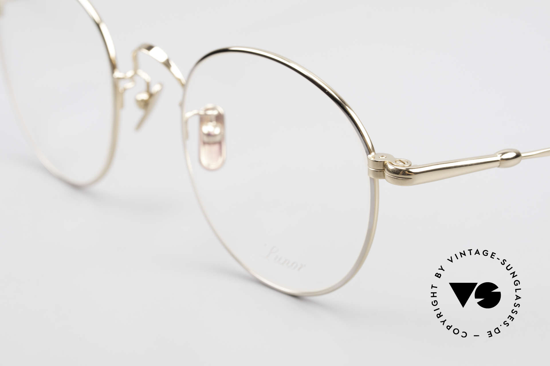 Lunor V 111 Men's Panto Frame Gold Plated, from the 2015's collection, but in a well-known quality, Made for Men