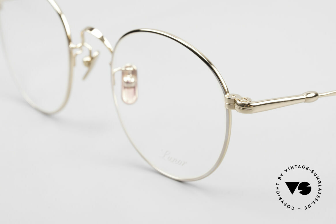 Lunor V 111 Men's Panto Frame Gold Plated, from the 2011's collection, but in a well-known quality, Made for Men