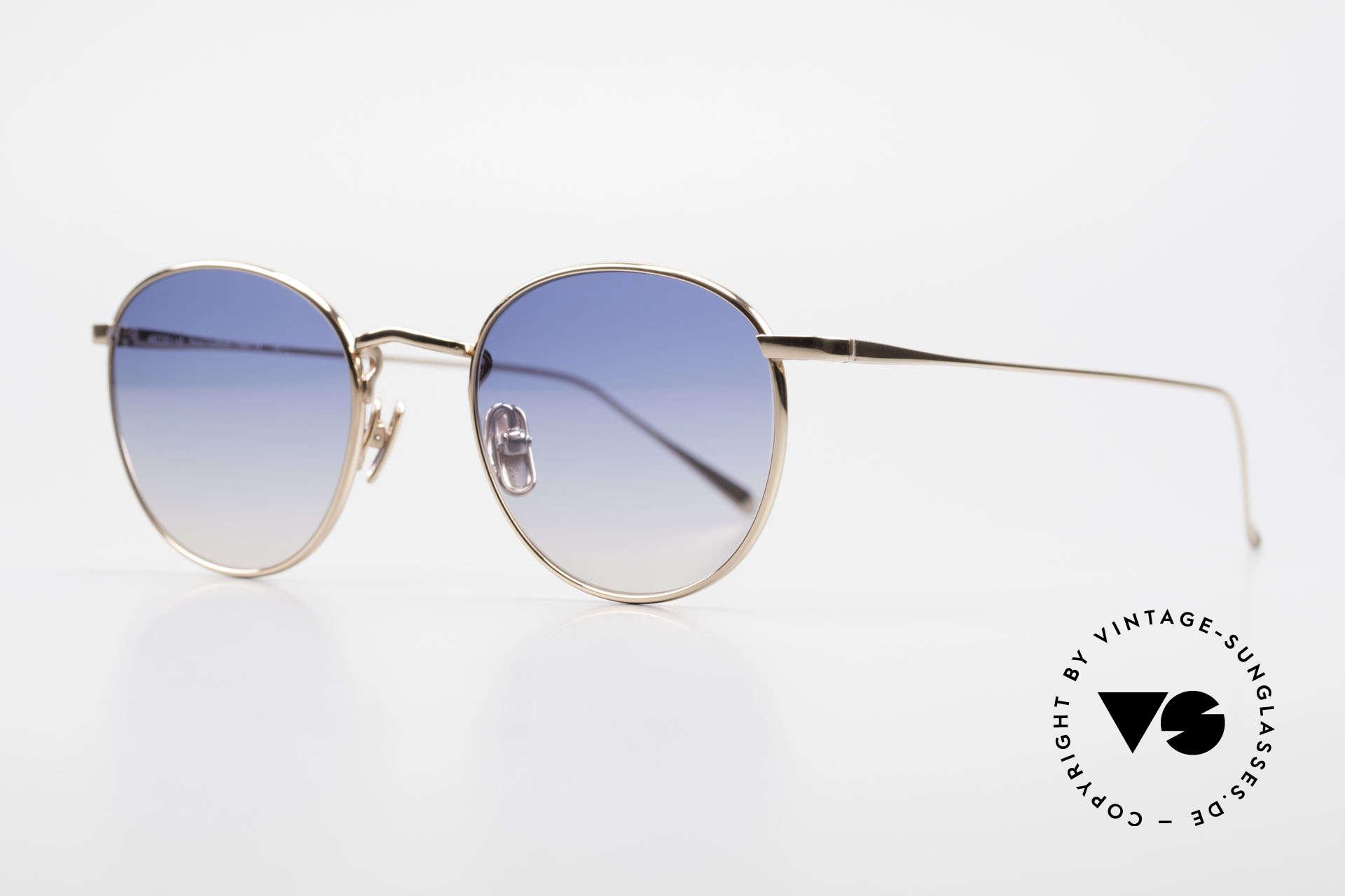 Lunor M9 Mod 01 RG Titan Sunglasses Rose Gold, M9 model 01, ROSÉ GOLD Titanium frame, size 48x20, Made for Men and Women