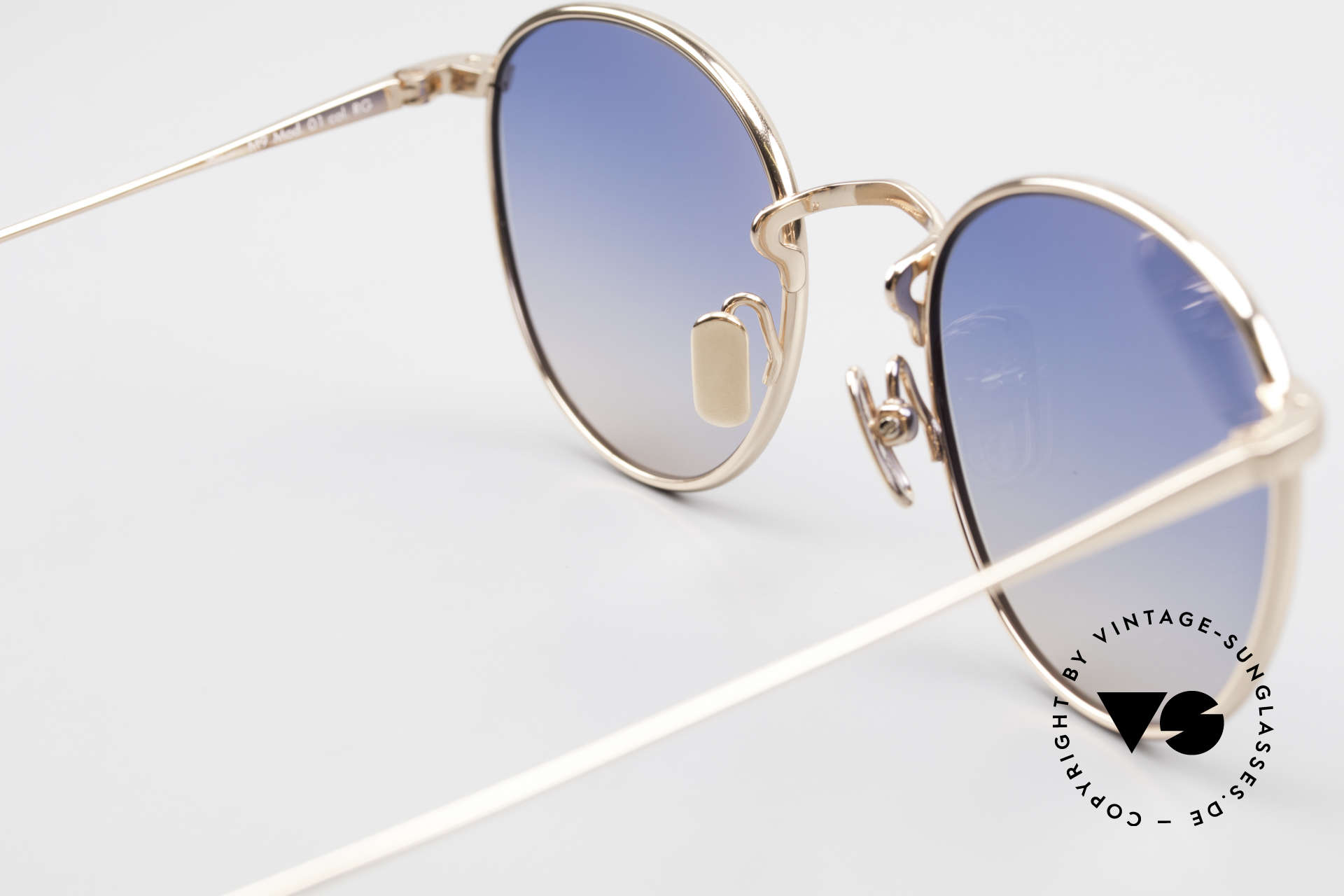 Lunor M9 Mod 01 RG Titan Sunglasses Rose Gold, of course, unworn (with an orig. leather case by LUNOR), Made for Men and Women