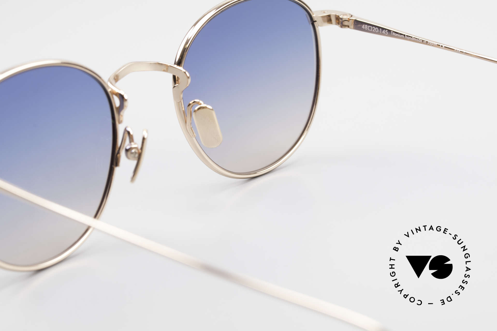 Lunor M9 Mod 01 RG Titan Sunglasses Rose Gold, Size: small, Made for Men and Women