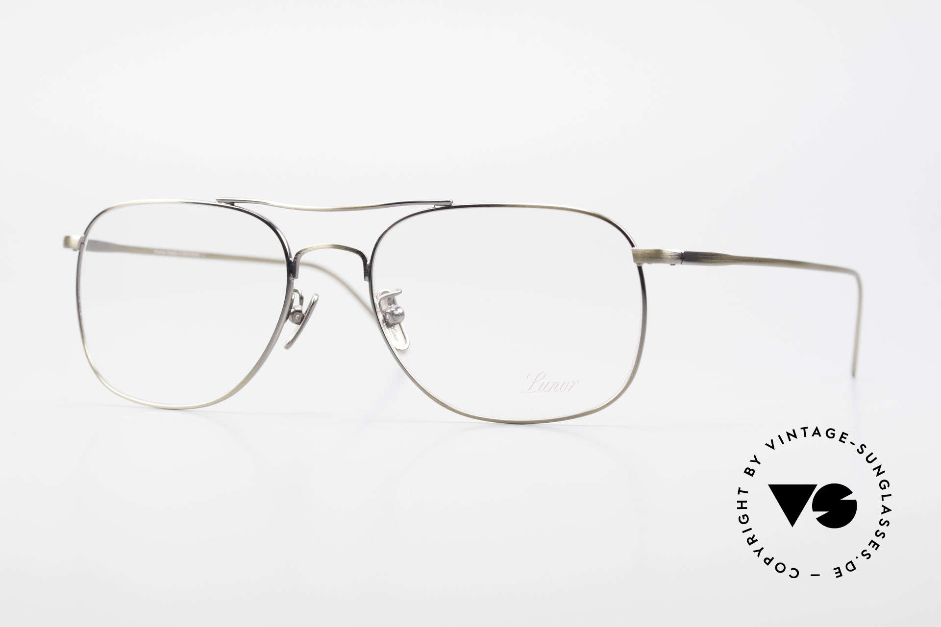Lunor Aviator II P4 AG Classy Men's Eyeglass-Frame, LUNOR: honest craftsmanship with attention to details, Made for Men