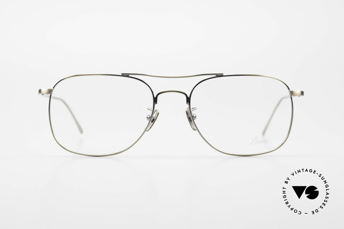 Lunor Aviator II P4 AG Classy Men's Eyeglass-Frame, without ostentatious logos (but in a timeless elegance), Made for Men