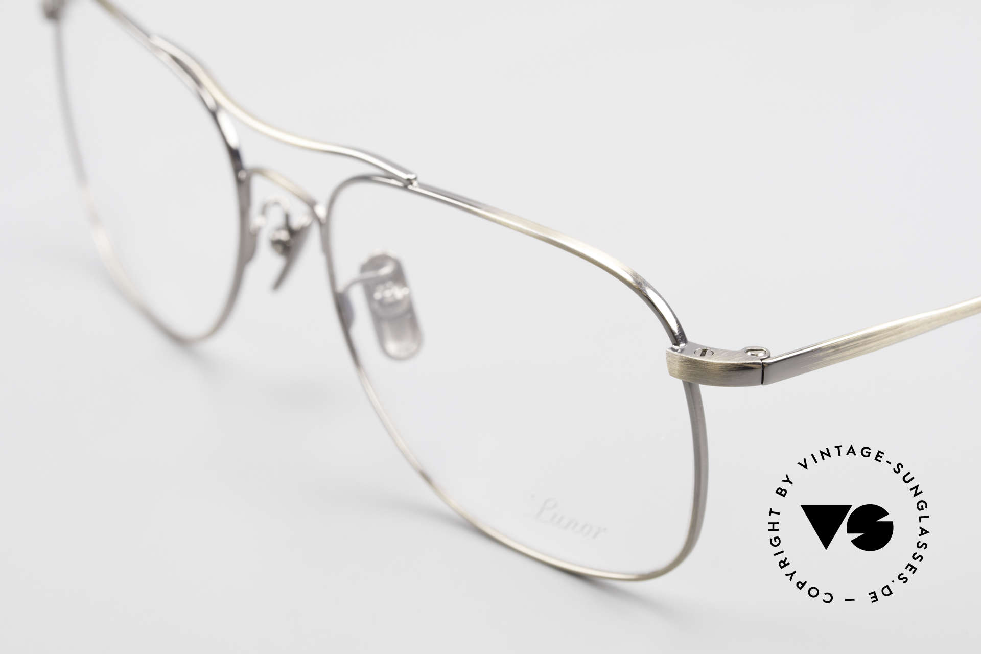 Lunor Aviator II P4 AG Classy Men's Eyeglass-Frame, from the latest collection, but in a well-known quality, Made for Men