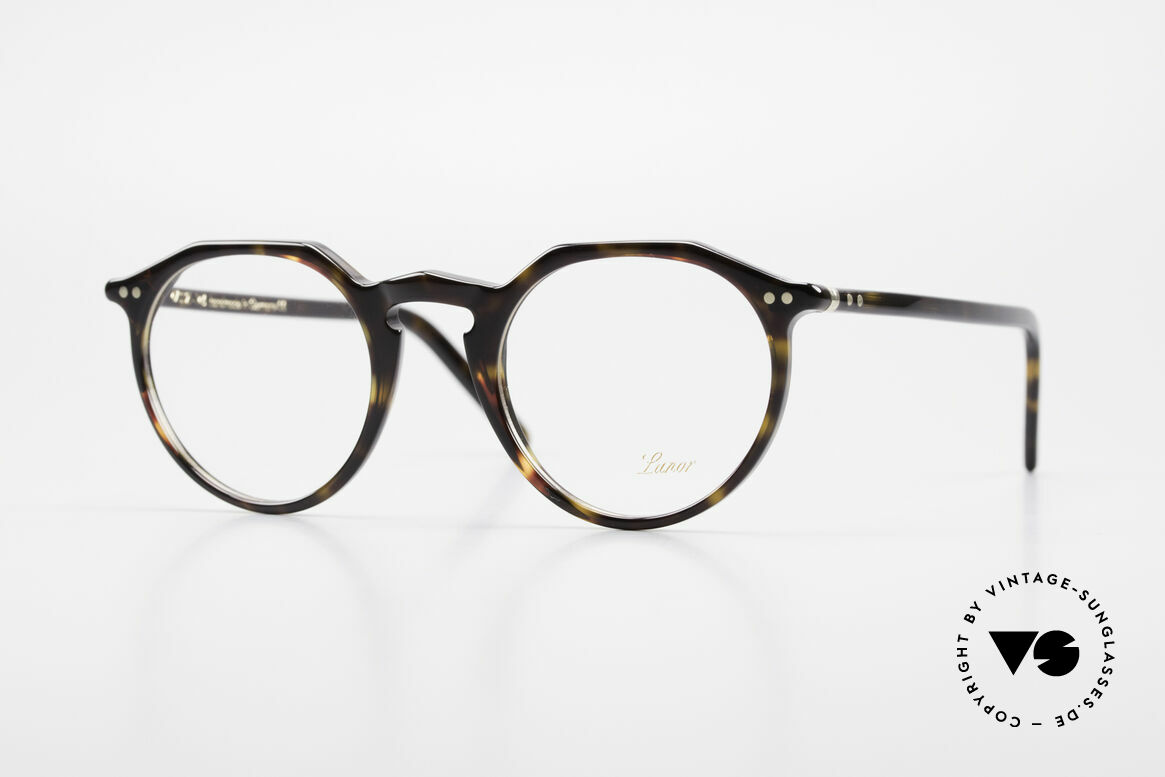 """Lunor A5 237 Classic Timeless Panto Frame, LUNOR: shortcut for French """"Lunette d'Or"""" (gold glasses), Made for Men and Women"""