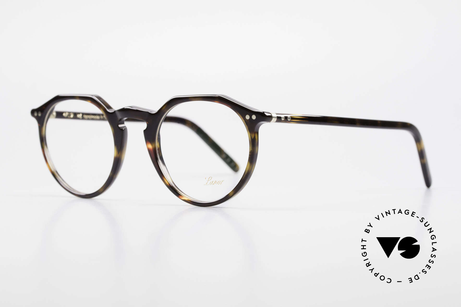 """Lunor A5 237 Classic Timeless Panto Frame, well-known for the """"W-bridge"""" & the plain frame designs, Made for Men and Women"""
