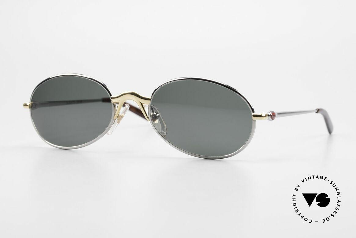 Bugatti 22126 Rare Oval 90's Vintage Shades, elegant vintage oval designer sunglasses by BUGATTI, Made for Men