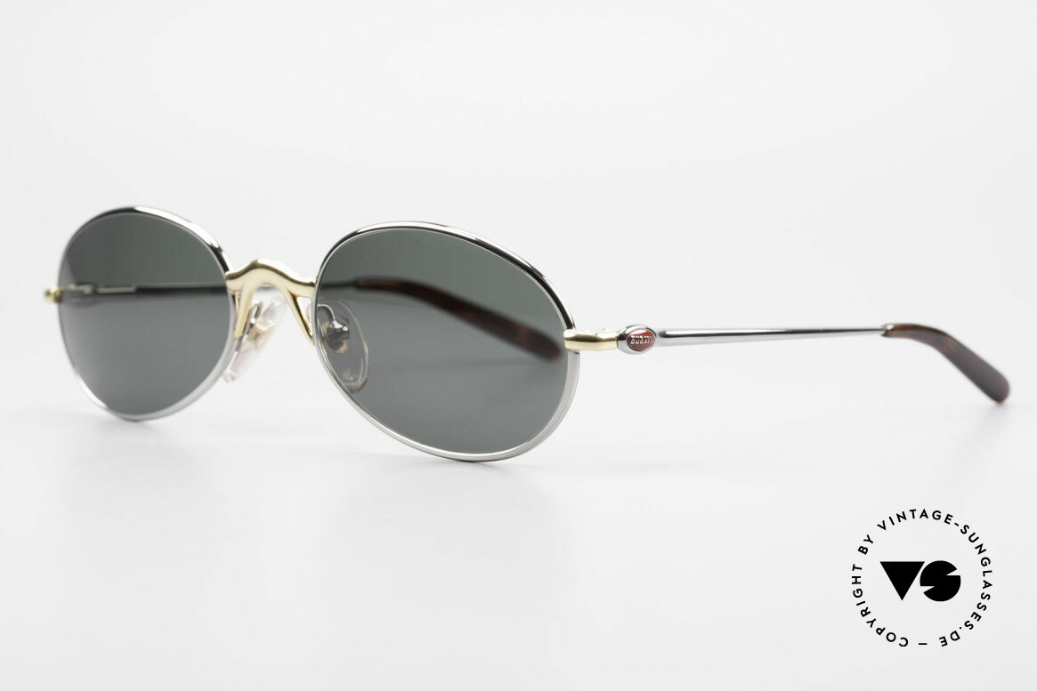 Bugatti 22126 Rare Oval 90's Vintage Shades, 1st class comfort due to spring temples (TOP quality), Made for Men