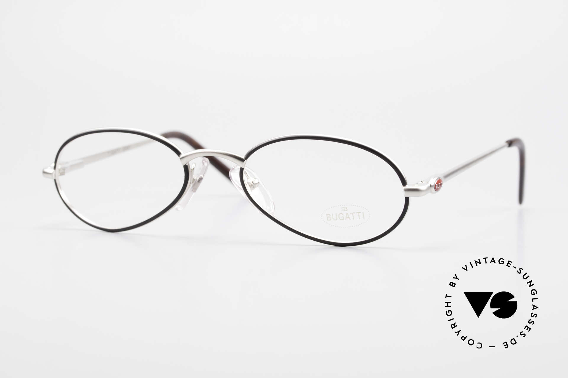 Bugatti 22431 Small 90's Vintage Eyeglasses, elegant vintage designer eyeglass-frame by BUGATTI, Made for Men and Women