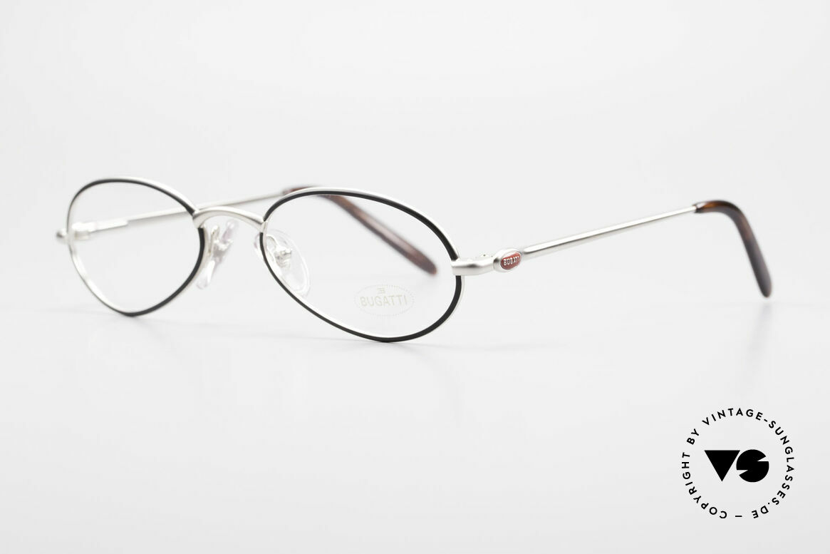Bugatti 22431 Small 90's Vintage Eyeglasses, 1st class comfort due to spring temples (TOP quality), Made for Men and Women