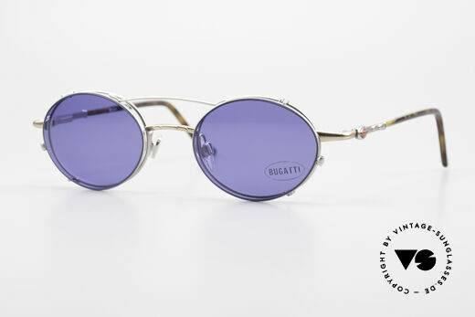 Bugatti 31239 Vintage Glasses with Clip On Details