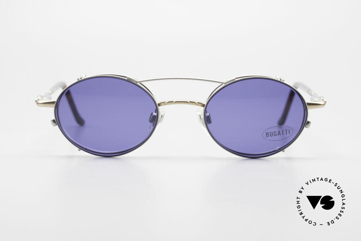 Bugatti 31239 Vintage Glasses with Clip On, classic Bugatti sunglasses from app. 1995/96, Made for Men
