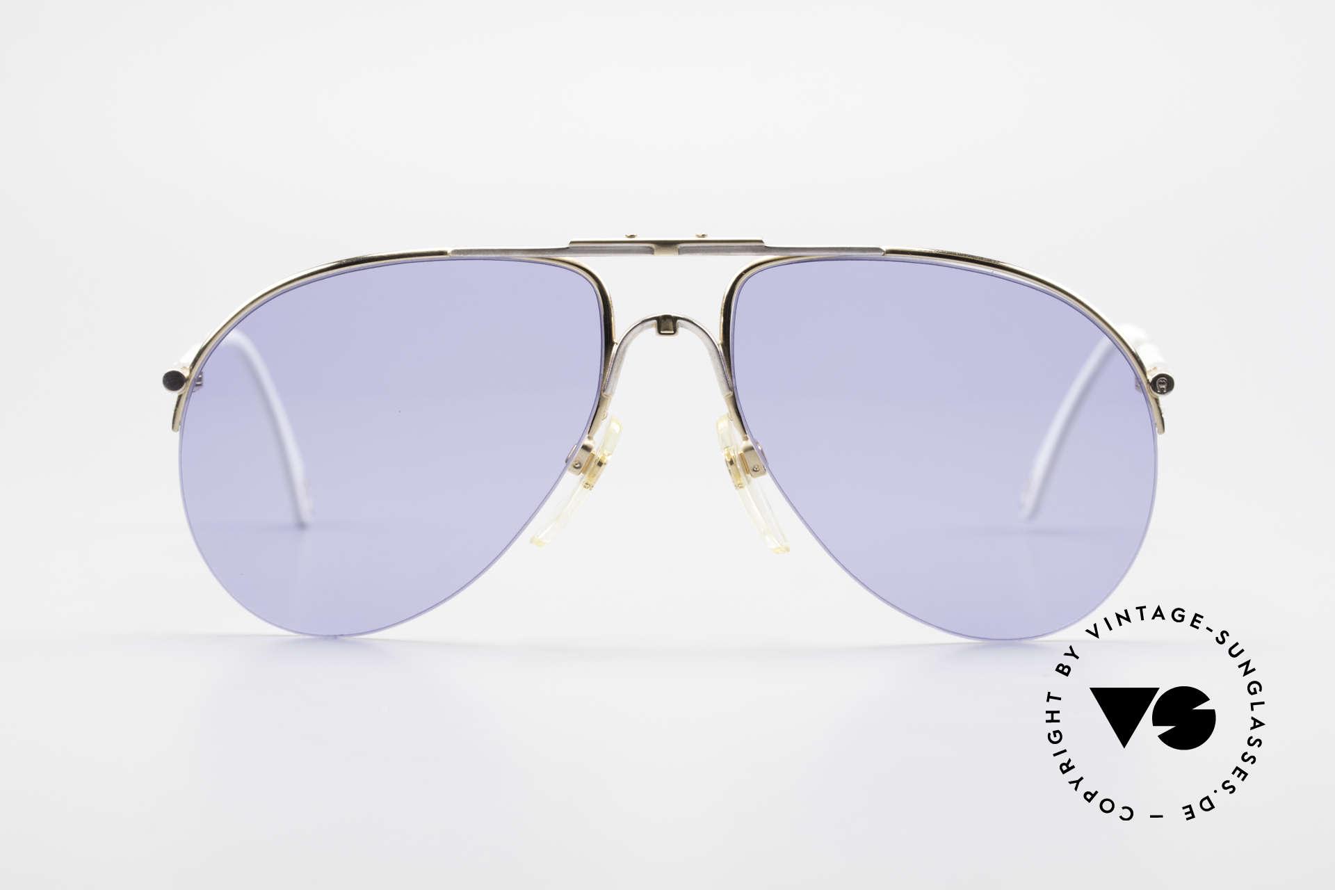 Aigner EA2 Rare 80's Vintage Sunglasses, noble modified 'aviator design' & elegant frame coloring, Made for Men and Women