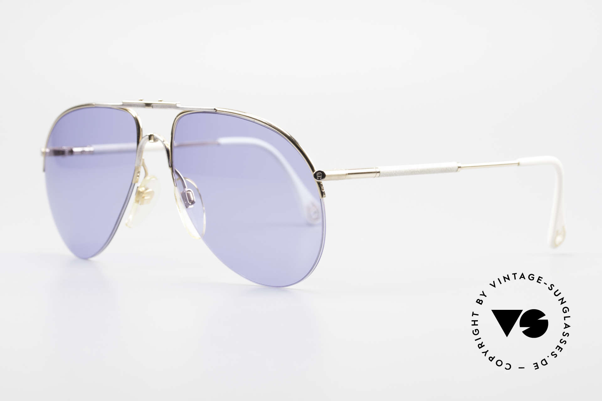 Aigner EA2 Rare 80's Vintage Sunglasses, outstanding craftsmanship and with serial number 9137, Made for Men and Women