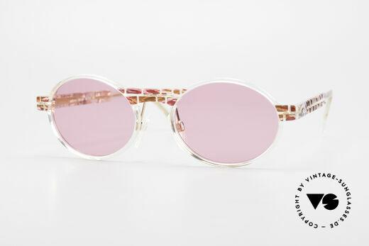 Cazal 510 Oval Pink Vintage Sunglasses Details