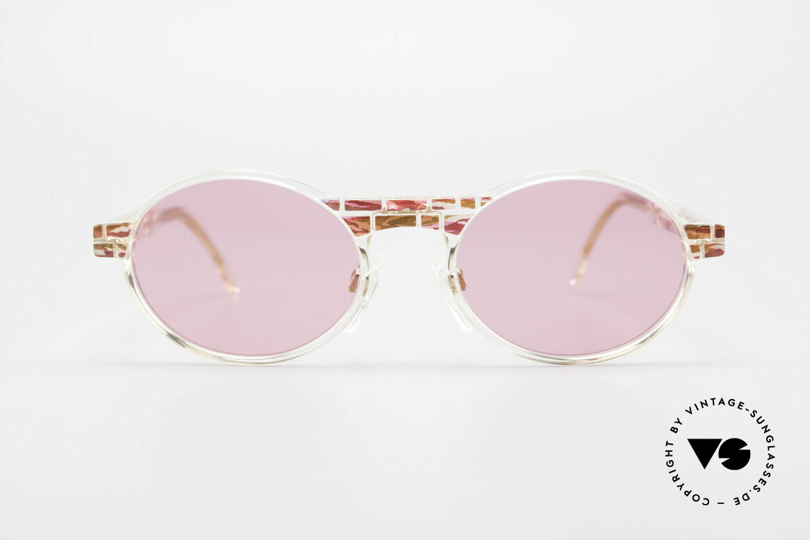 Cazal 510 Oval Pink Vintage Sunglasses, made in the 90's as limited-lot production in Germany, Made for Women