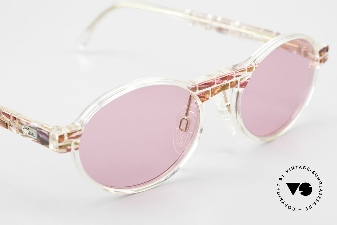Cazal 510 Oval Pink Vintage Sunglasses, pink lenses, to see things through rose-colored glasses, Made for Women