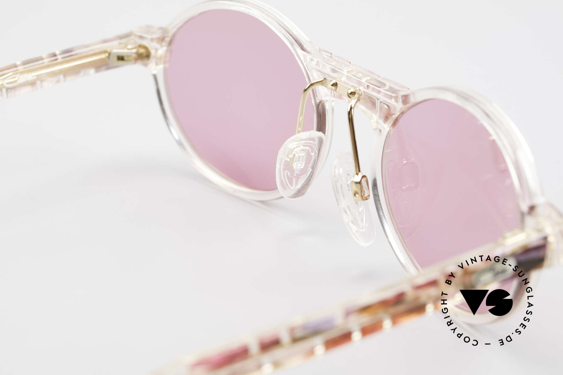 Cazal 510 Oval Pink Vintage Sunglasses, unworn (like all our rare vintage Cazal Crystal frames), Made for Women