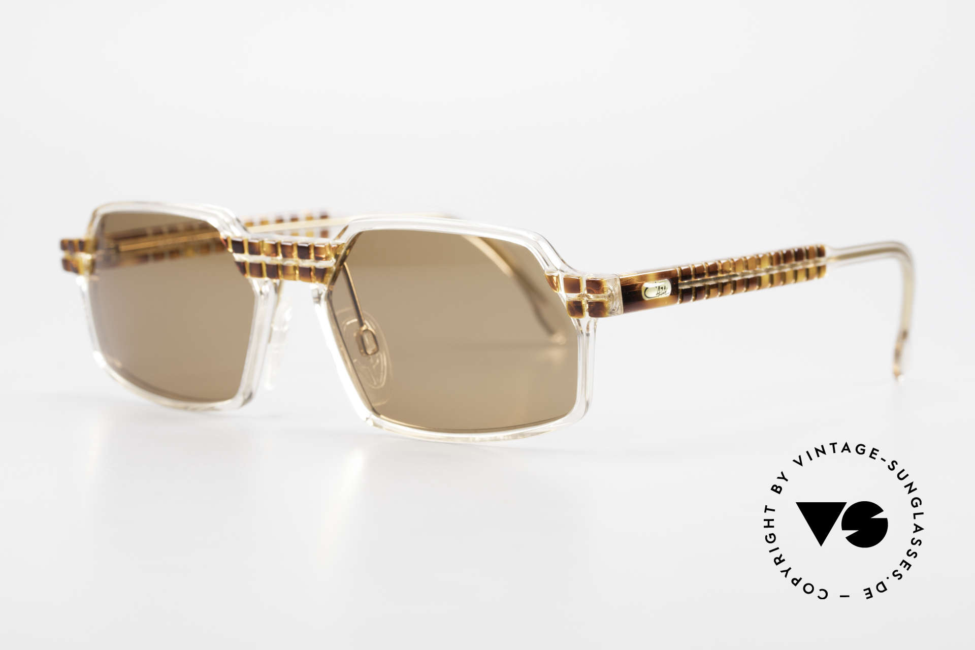 Cazal 511 Limited 90's Cazal Sunglasses, special edition with crystal clear frame - truly unique!, Made for Men and Women