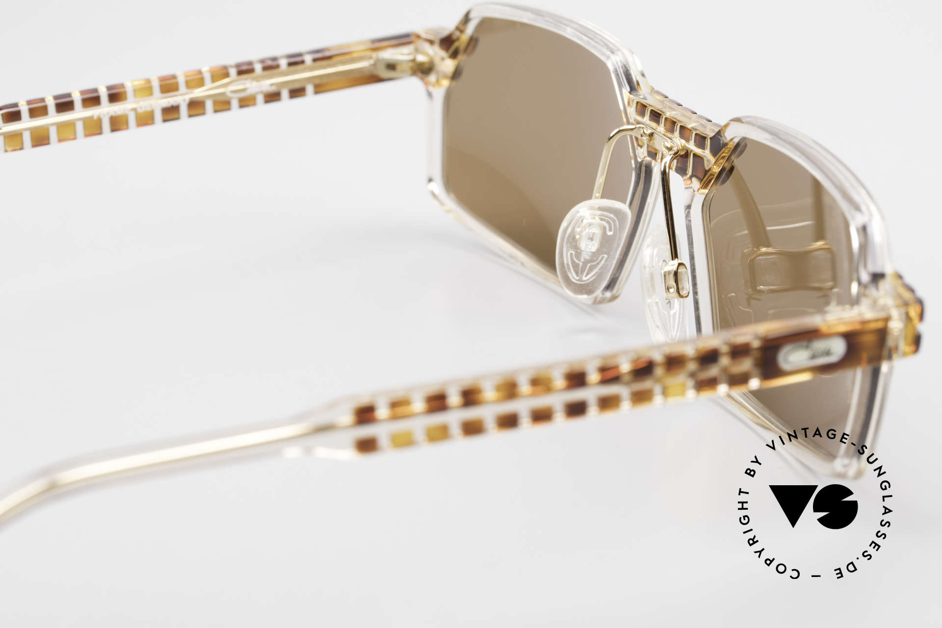 Cazal 511 Limited 90's Cazal Sunglasses, with dark brown sun lenses (for 100% UV protection), Made for Men and Women