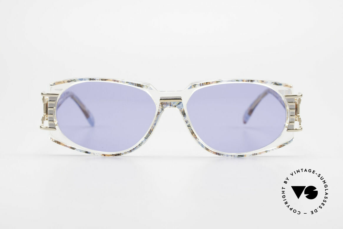 Cazal 372 Rare HipHop Vintage Shades 90s, terrific / stunning color concept: pistache mulitcolor / clear, Made for Men and Women