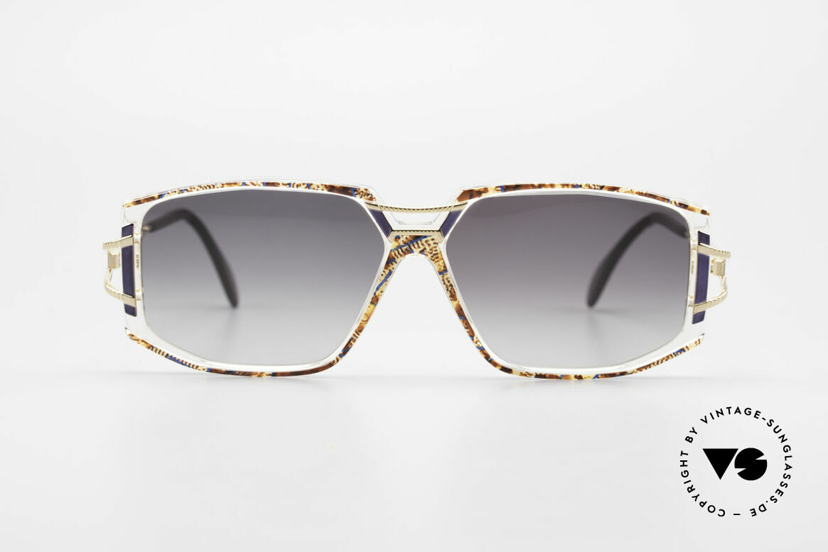 Cazal 362 Original 90's Cazal Sunglasses, exciting ornamental piece on bridge and temple hinges, Made for Women