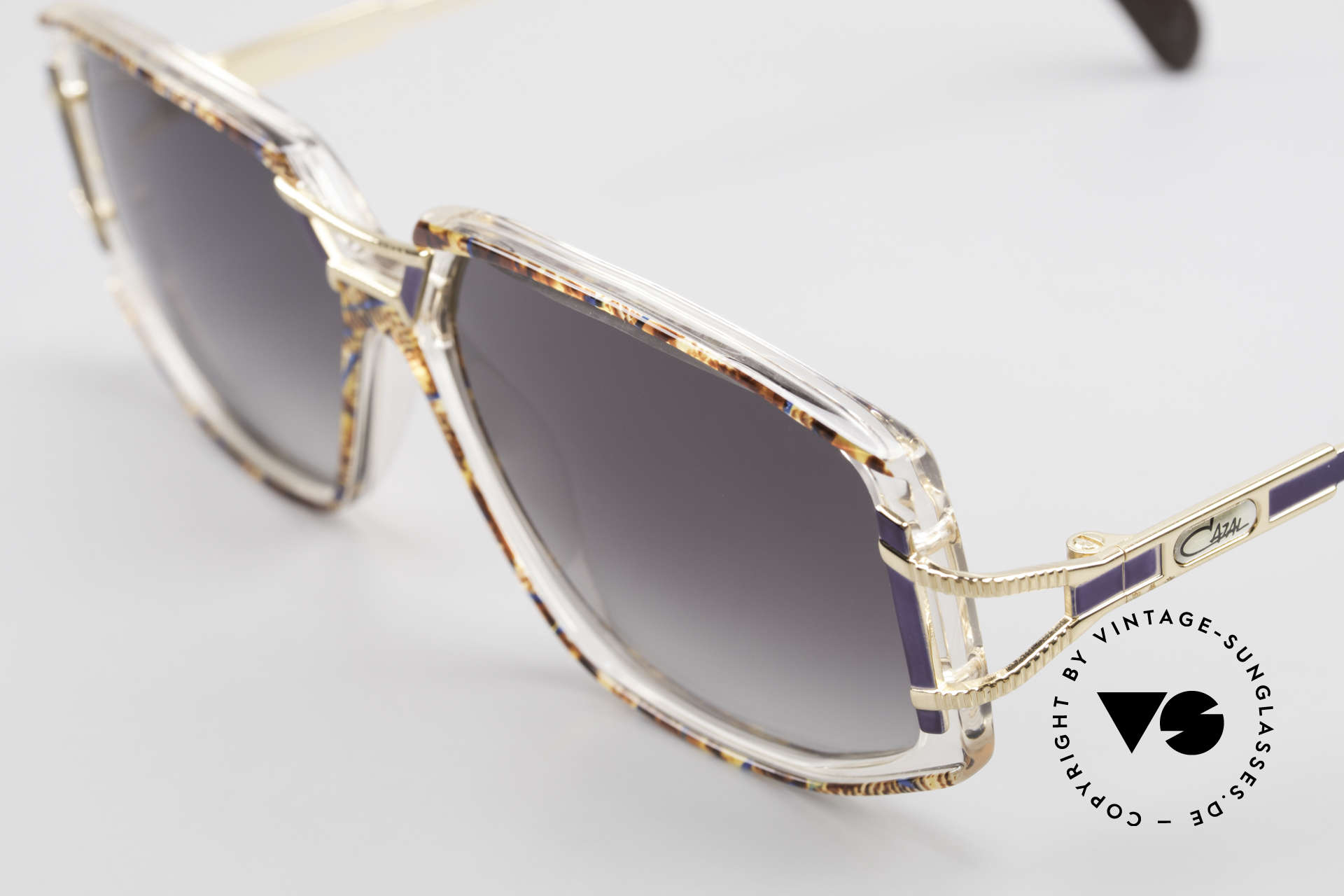 Cazal 362 Original 90's Cazal Sunglasses, CAZAL color description: amber-blue / crystal / gold, Made for Women