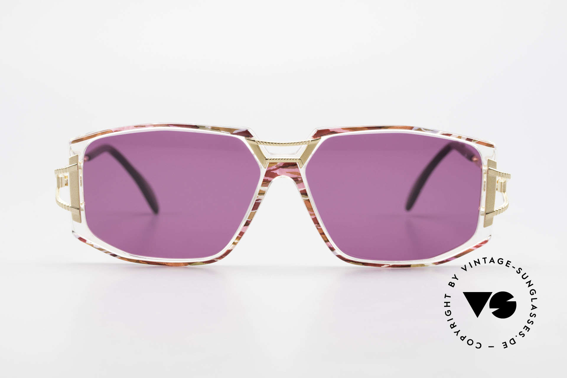 Cazal 362 90's Sunglasses Ladies Cazal, exciting ornamental piece on bridge and temple hinges, Made for Women