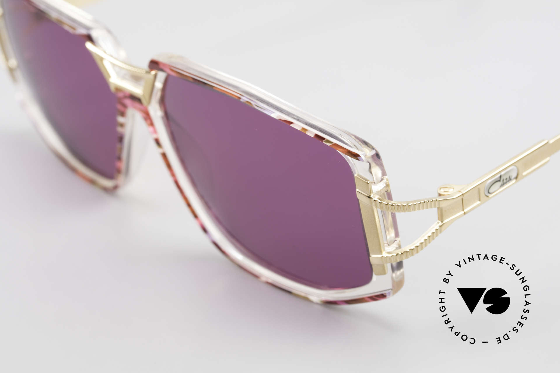 Cazal 362 90's Sunglasses Ladies Cazal, CAZAL color description: fuchsia-pink / crystal / gold, Made for Women