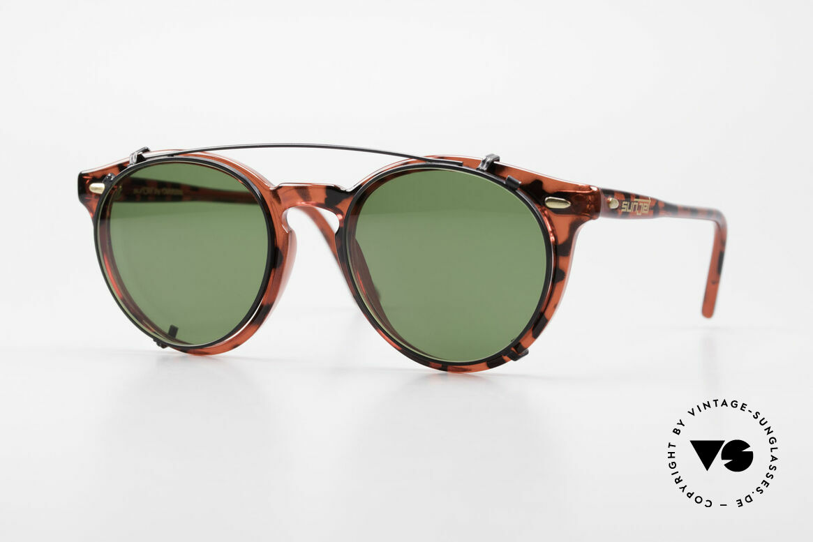 Carrera 5256 Clip Vintage Panto Frame Clip On, timeless vintage Carrera Sunjet frame with sun clip, Made for Men and Women