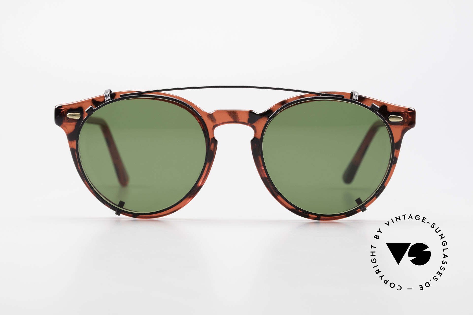 Carrera 5256 Clip Vintage Panto Frame Clip On, more 'classic' in coloring and design isn't possible!, Made for Men and Women
