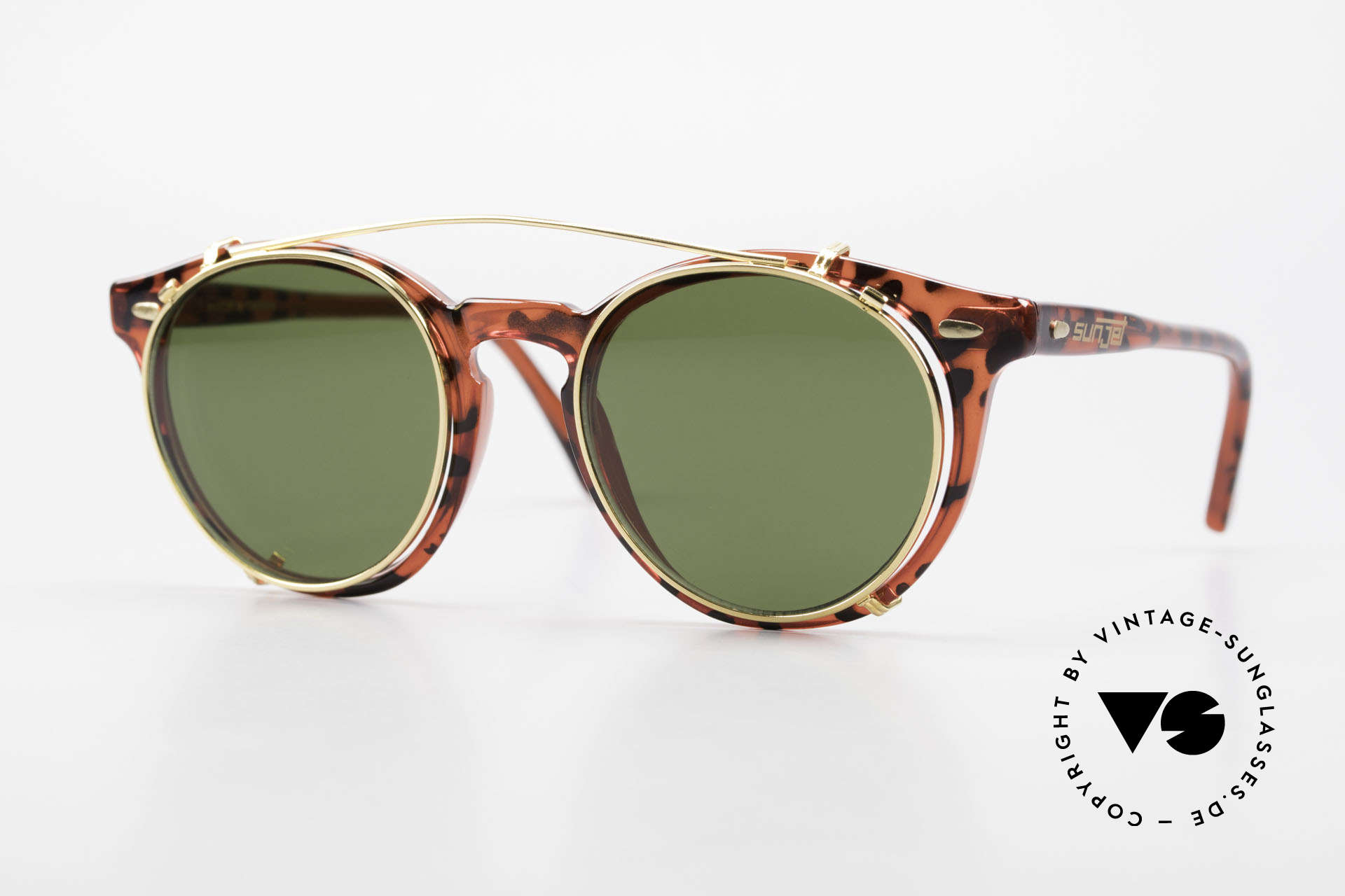 Carrera 5256 Clip Panto Frame Johnny Depp Style, timeless vintage Carrera Sunjet frame with sun clip, Made for Men and Women