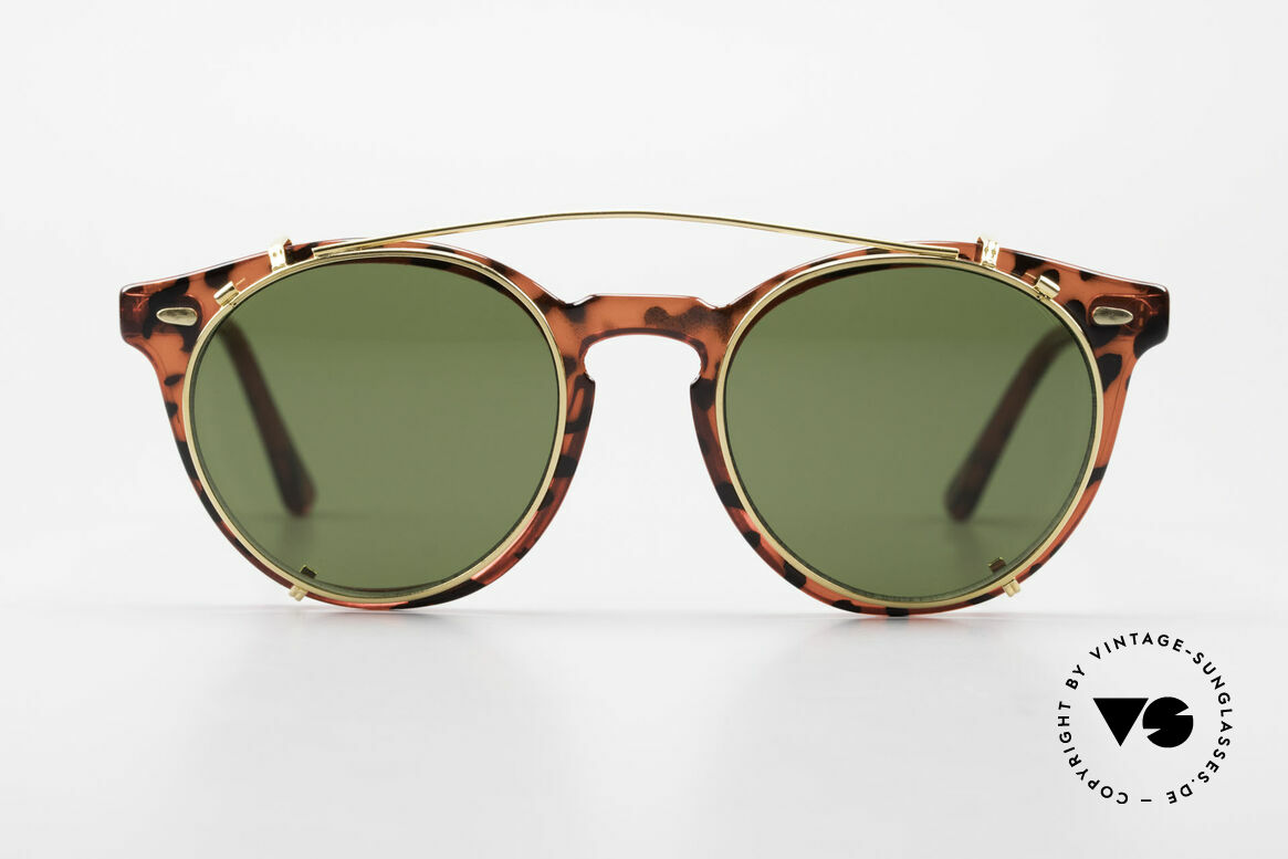 Carrera 5256 Clip Panto Frame Johnny Depp Style, more 'classic' in coloring and design isn't possible!, Made for Men and Women