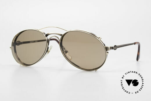 Bugatti 03323 Men's 80's Frame With Clip On Details