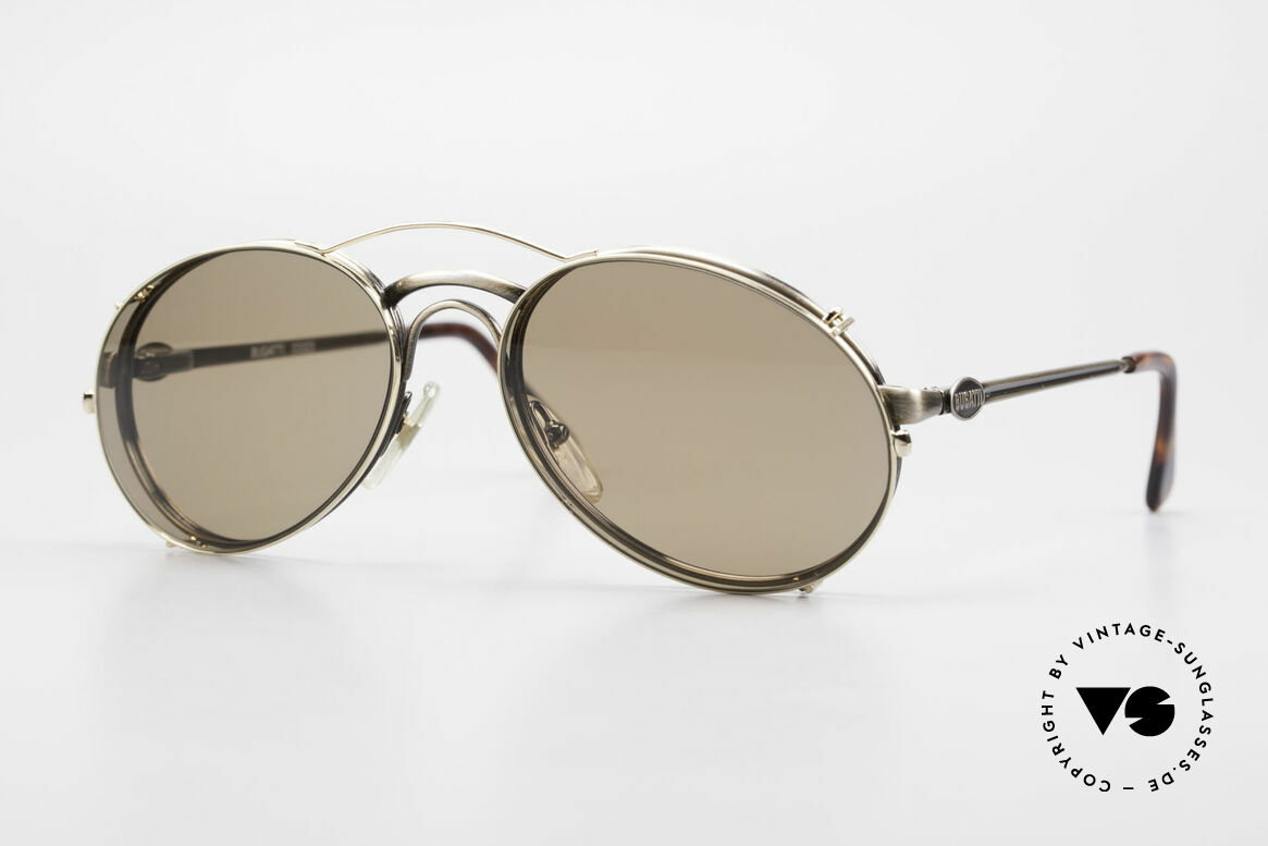 Bugatti 03323 Men's 80's Frame With Clip On, classic vintage Bugatti sunglasses from approx. 1989, Made for Men