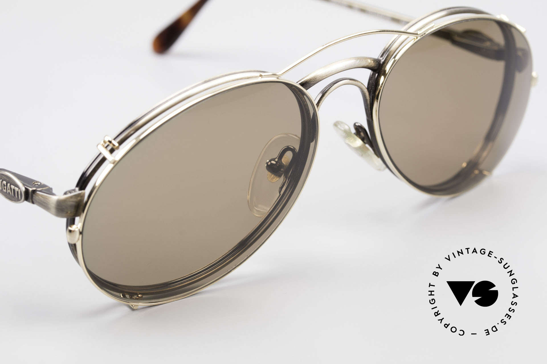 Bugatti 03323 Men's 80's Frame With Clip On, unworn (like all our vintage Bugatti designer shades), Made for Men