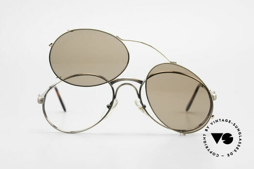 Bugatti 03323 Men's 80's Frame With Clip On, NO RETRO fashion, but an authentic old 80's original, Made for Men
