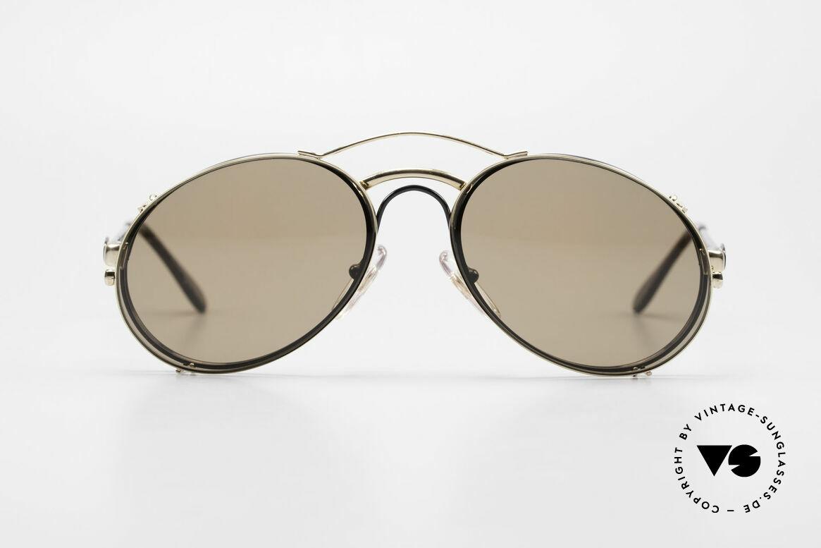 Bugatti 03326 Men's 80's Eyeglasses Clip On, distinctive Bugatti 'tear drop' shape; in 50mm size, Made for Men