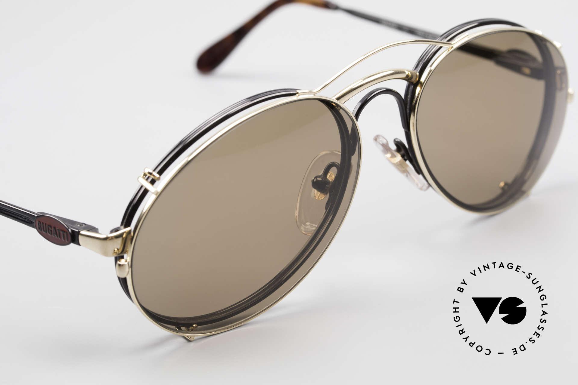 Bugatti 03326 Men's 80's Eyeglasses Clip On, unworn (like all our vintage Bugatti designer shades), Made for Men