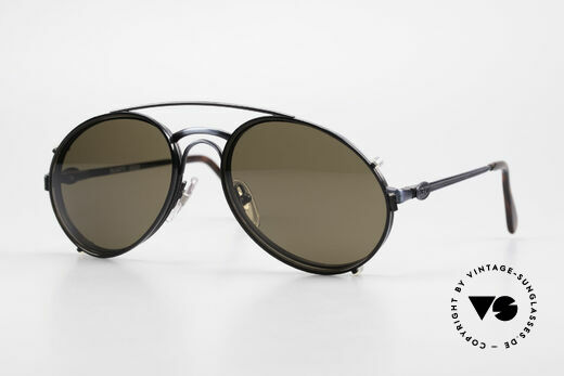 Bugatti 03328 Men's 80's Sunglasses Clip On Details