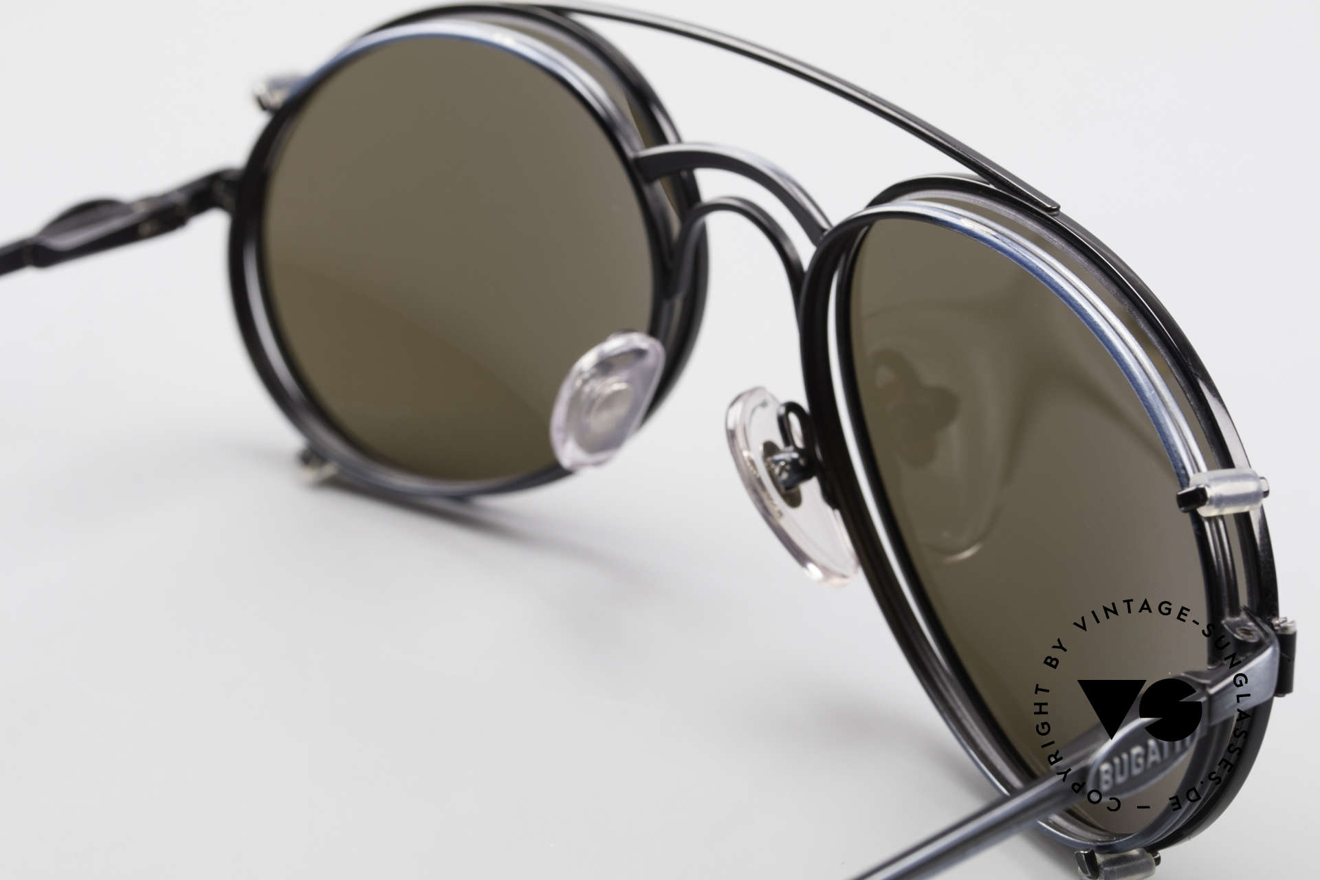 Bugatti 03328 Men's 80's Sunglasses Clip On, thus reduced to 349€; check the photos of the backside!, Made for Men