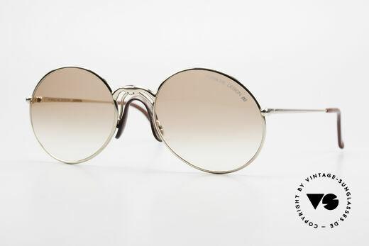 Porsche 5658 Round Vintage Sunglasses 90s Details