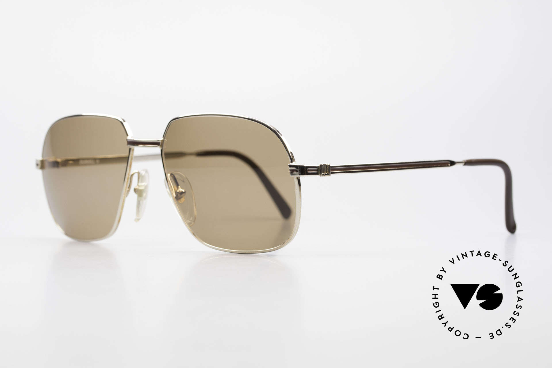 Dunhill 6123 Gold Plated Gentlemen's Frame, gold-plated frame with auburn inlay; top notch quality, Made for Men
