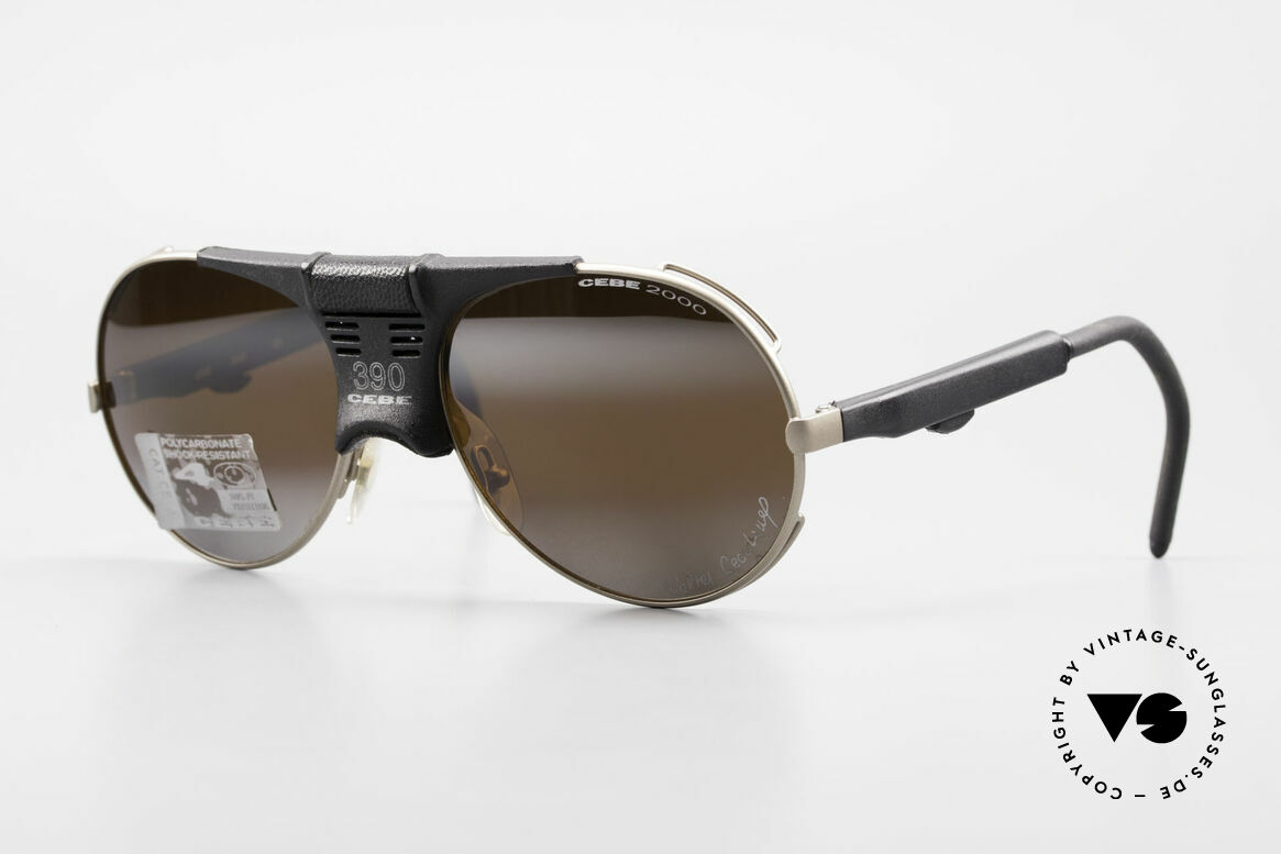 Cebe 390 Walter Cecchinel Sports Shades, vintage Cebe sports shades - made for extreme purpose, Made for Men and Women