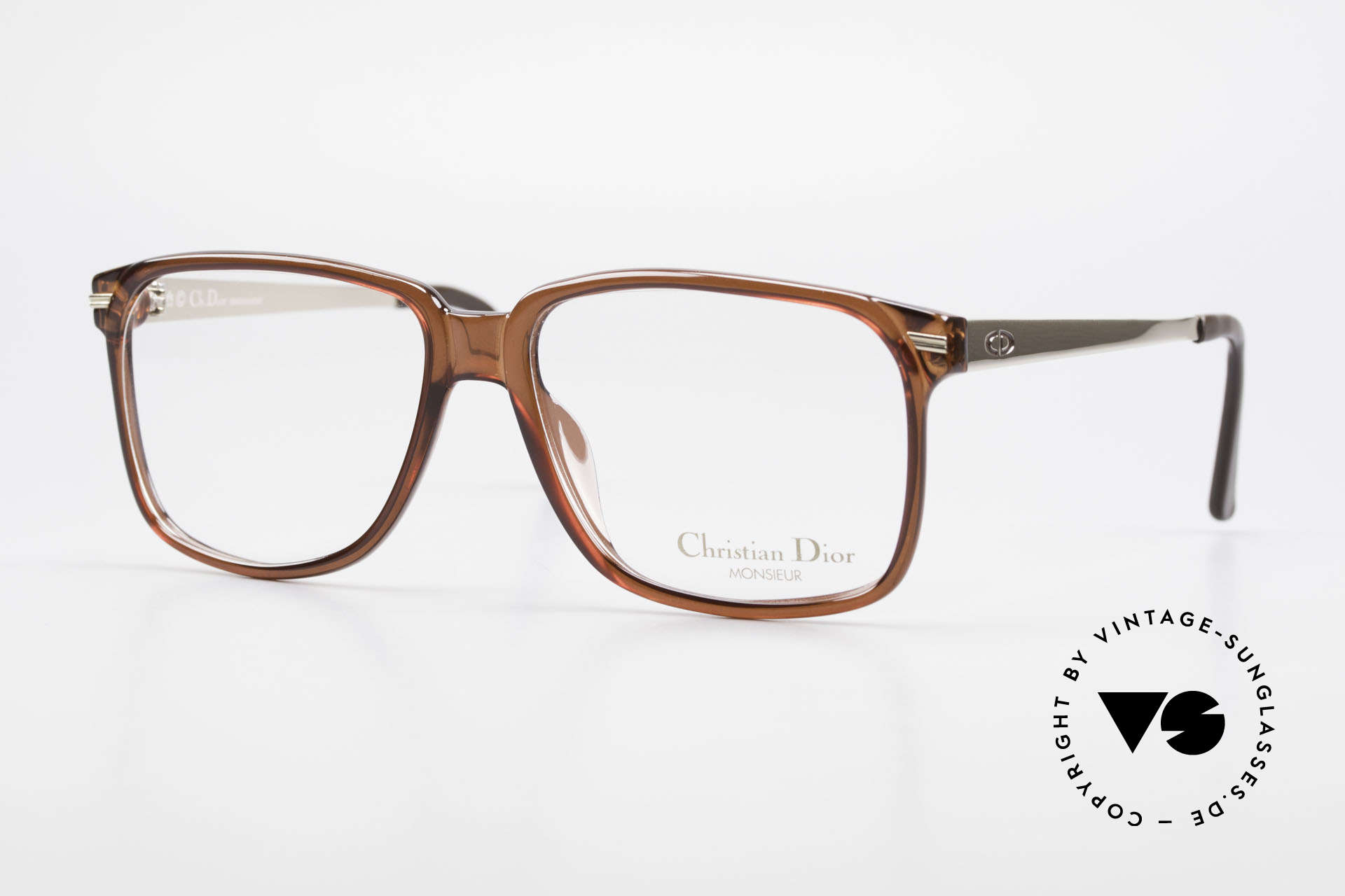 Christian Dior 2460 80's Frame Monsieur Series, striking frame design by Chr. Dior of the 80's, Made for Men